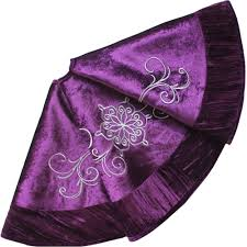 marvelous design purple tree skirt skirts happy holidays