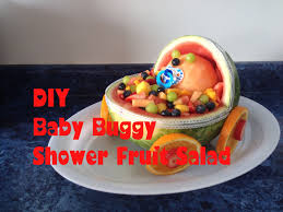 diy baby buggy fruit salad for a baby shower youtube