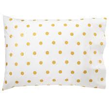 organic gold dot pillowcase the land of nod