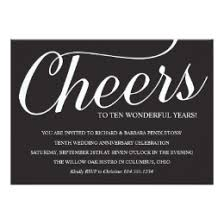 10th wedding anniversary 10th wedding anniversary invitations zazzle