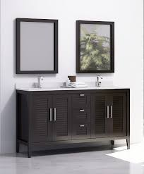 madrid 60 inches double sink bahtroom vanity solid wood espresso