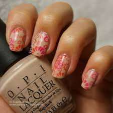lovestruck lacquer two tone floral stamping for busy nails