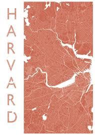 Harvard Map Boston Harvard Map Print Portrait Style U2013 Mappedmoments