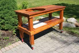 Western Red Cedar Outdoor Furniture by Big Green Egg