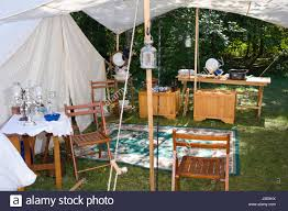 Awning Furniture White Canvas Tents And Awning With Wood Camp Furniture And