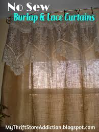 Coffee Bag Curtains by Refresh Your Home No Sew Burlap And Lace Curtains Thrift Stores