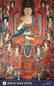 buddhist wall painting stock photos buddhist wall painting stock south korea seoul bongeun sa buddhist temple wall painting buddha