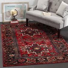 bloomsbury market barrera red black area rug u0026 reviews wayfair
