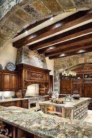 wood and stone kitchen w loft home pinterest stone kitchen
