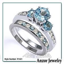 topaz rings prices images 14k white gold blue topaz diamond engagement ring set free jpg