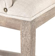 Limed Oak Dining Tables Corneille French Country Limed Oak Linen Dining Chair Kathy Kuo Home