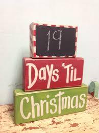 days til christmas chalkboard advent calender chunky block set