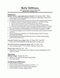 exles of teachers resumes resume objective inspiration elementary resume