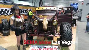 willys jeep truck diesel brothers hauk 45 willys jeep sema 2016 youtube