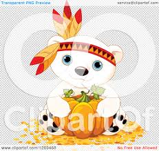 pumpkin no background clipart of a cute thanksgiving polar bear hugging a pumpkin and