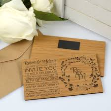 wooden wedding invitations 11b engraved horizontal wooden wedding invitations