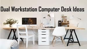 dual workstation computer desk ideas two person computer desk