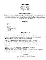 Daycare Resume Examples by Babysitter Resume Sample Haadyaooverbayresort Com