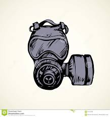 vector drawing gas mask stock vector image 91075780