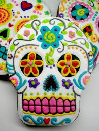 dia de los muertos skull cookies cakecentral com