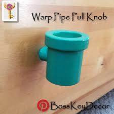 warp pipe pull knob geek gamer home decor nintendo super mario
