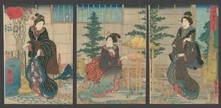 the garden in winter hiroshige the art of japan