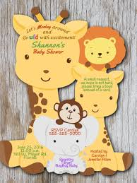 giraffe baby shower invitation elephant baby shower safari themed