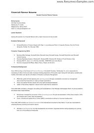 financial advisor resume sample cover letter for entry level