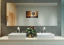 tv in a mirror bathroom popular tv mirror bathroom kit with regard to tv for plans