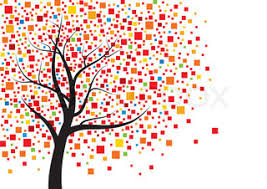 abstract tree design stock vector colourbox