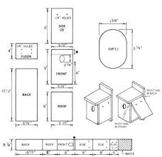 Box House Plans Birdhouse And Nest Box Plans For Several Bird Species The