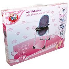 chaise haute poup e chaise haute 4 en 1 pour poupée et poupon rik rok pas cher à prix