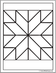 Pattern Coloring Pages Customize Pdf Printables Quilt Block Coloring Pages