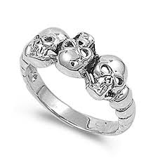 engagement rings skull sterling silver wedding engagement ring skulls wedding band ring