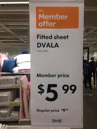ikea family price ikea twin size bed sheet 6 save 4 redflagdeals com forums