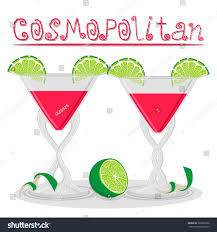 cosmo martini recipe vector illustration logo alcohol cocktails martini stock vector