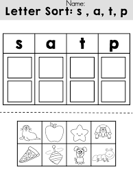 free letters sorting cut and paste activity u003e u003e review initial