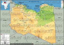 Physical Africa Map by Geoatlas Countries Libya Map City Illustrator Fully