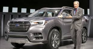 suv subaru 2017 subaru ascent suv subaru unleashes a three row vehicle for u s