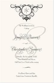 modern wedding program modern wedding programs spiral swirl wedding ceremony programs