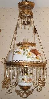 antique lights for sale sale antique handpainted glass brass hanging oil l dragonflies