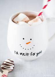 diy painted mug gift idea diy christmas holidays and food