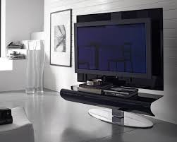 furniture modern tv black tv stand with chromed metal leg