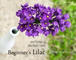 beginner u0027s crochet lilac pattern crochet lilac flower