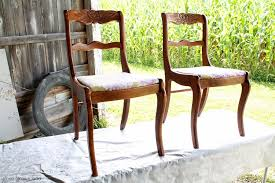 Recover Chair Dining Chair Makeover How To Paint And Recover Chairs For
