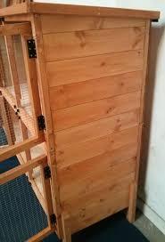 double storey rabbit hutch with barrel bolt locks