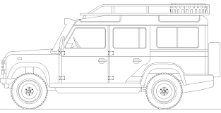 range rover sketch land rover defender 110 sketch coloring page