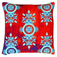 Kitschy Home Decor by Charming Flower Motif Cushion Cover From The Exclusive Home Decor