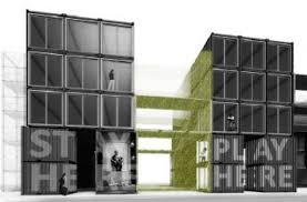 shipping container hotel project makes a statement in detroit