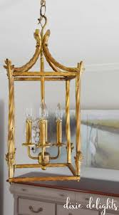 Gold Chandelier Light 2 Simple Steps To An Antique Gold Chandelier Finish Dixie Delights